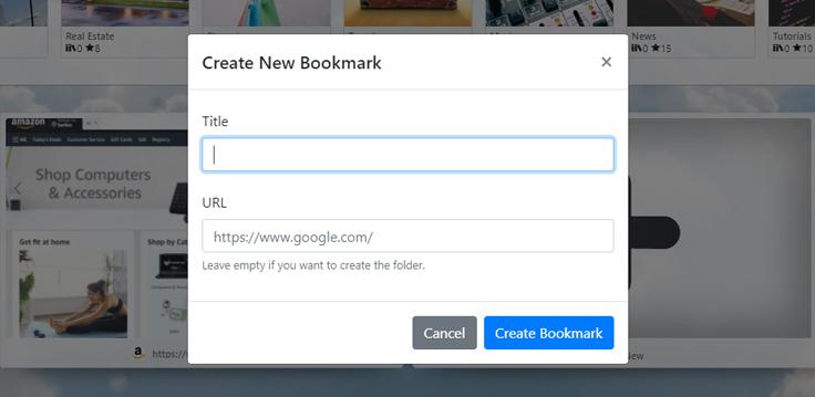 New Bookmark Form